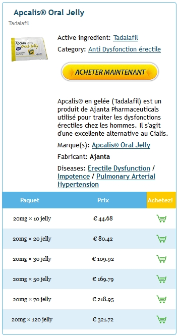 Commande Apcalis jelly 20 mg France