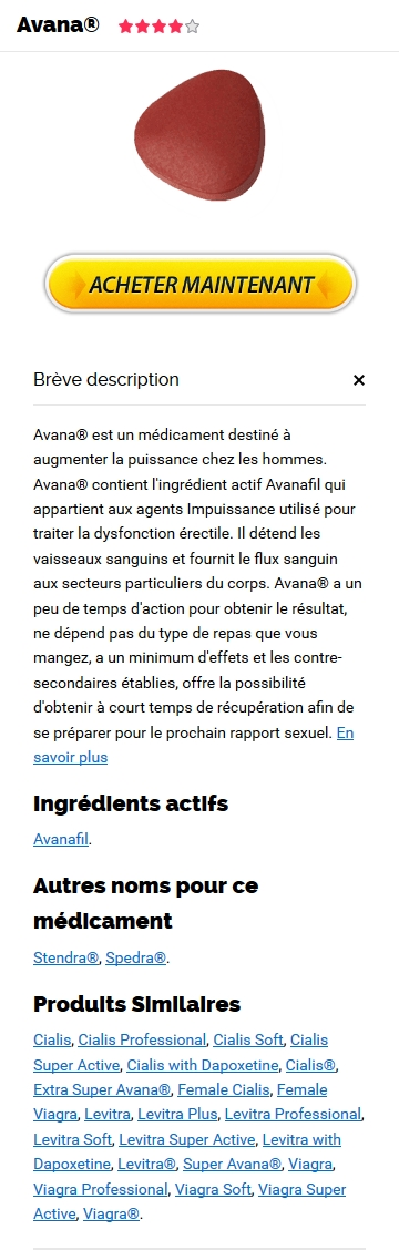 Avana GA�nA�rique En Pharmacie France