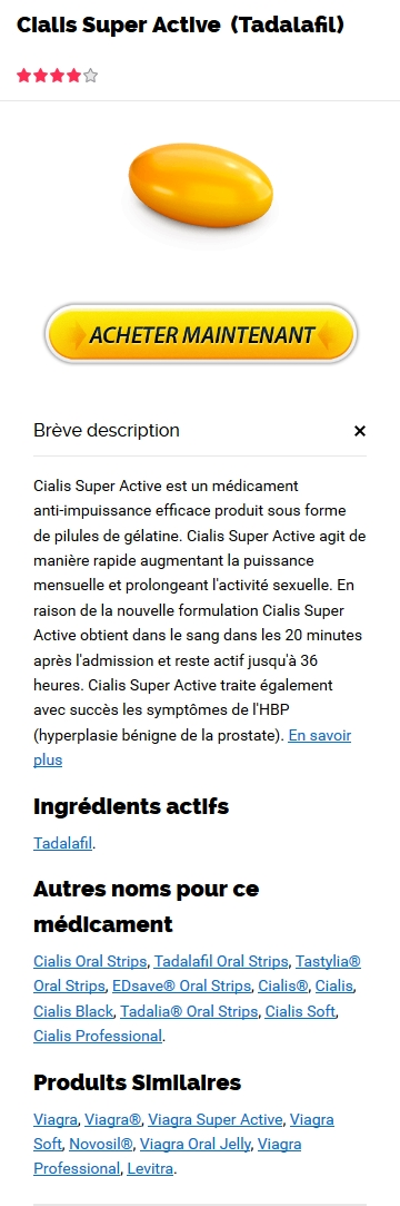 Cialis Super Active 20 mg France