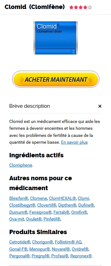 Vente Clomid 50 mg France