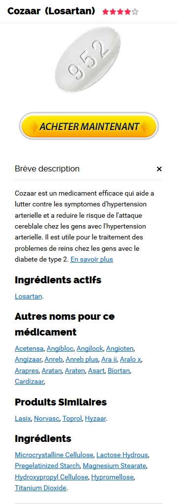 Cozaar 25 mg Generique En France