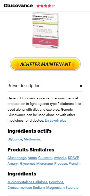 Glucovance 500 mg GA�nA�rique En Pharmacie France