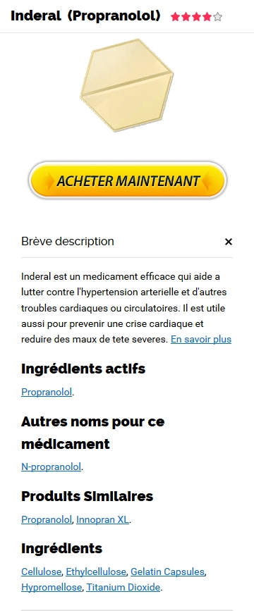 Commander Du Inderal 40 mg Sur Internet