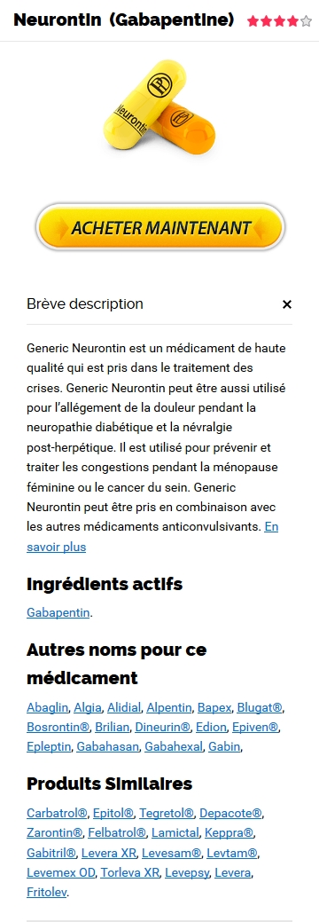 Neurontin Generique France