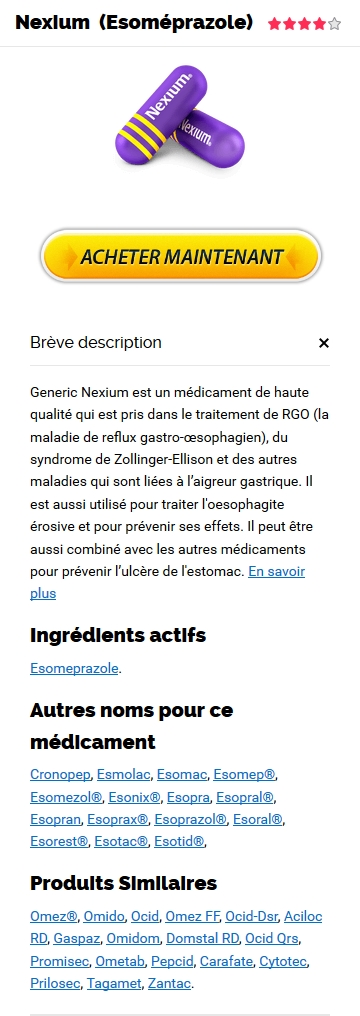 Nexium 40 mg Prix France