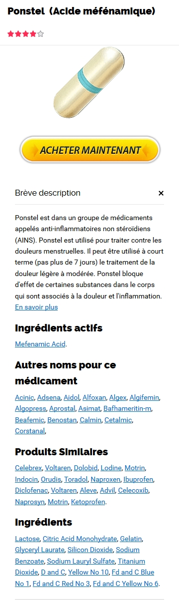 Vente Ponstel 500 mg France