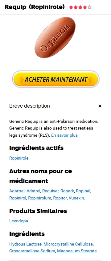Vente Requip 0.25 mg En France
