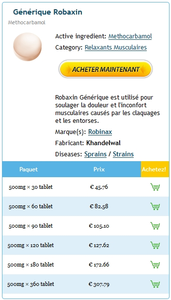Robaxin 500 mg Prix France