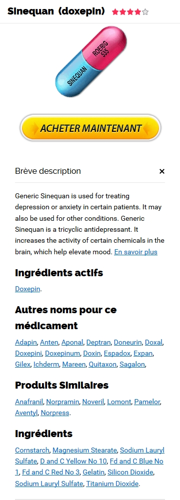 Sinequan 75 mg Generique Fiable