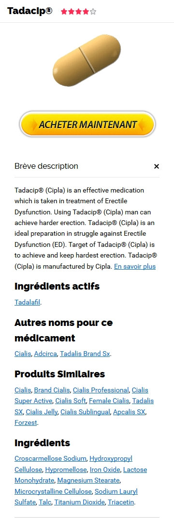 Commande Tadacip 10 mg France