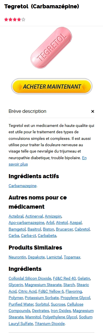 Prix Du Tegretol 100 mg En France