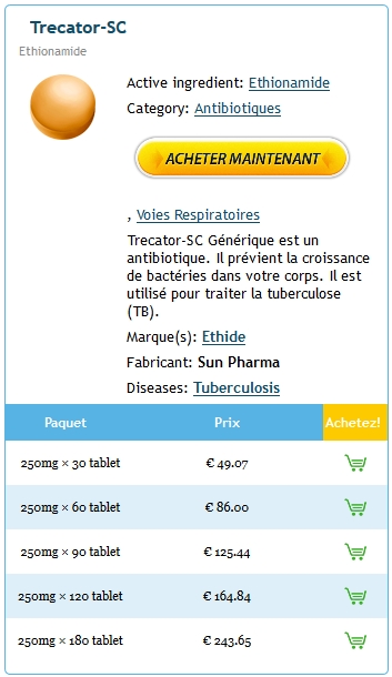 Achat Trecator Sc 250 mg En Pharmacie