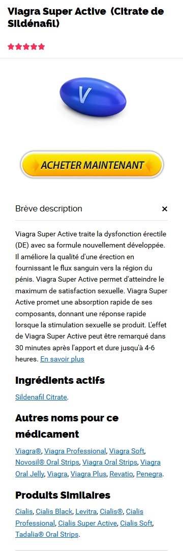Viagra Super Active Commande