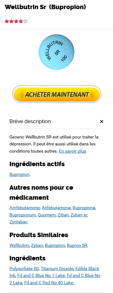 Prix Wellbutrin Sr 150 mg France