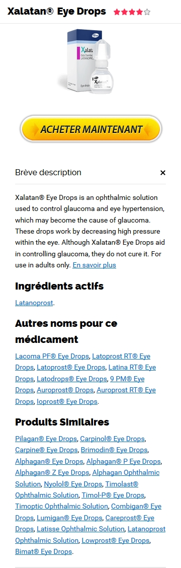 Xalatan 2.5 ml Pharmacie
