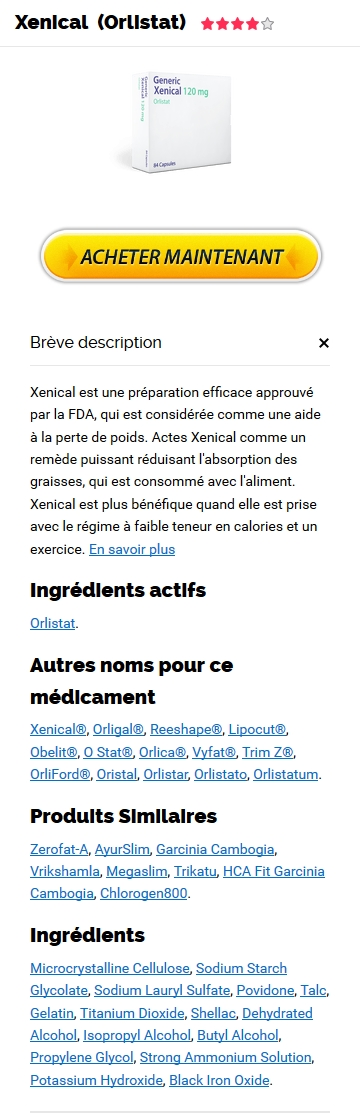 Xenical 120 mg Prix France