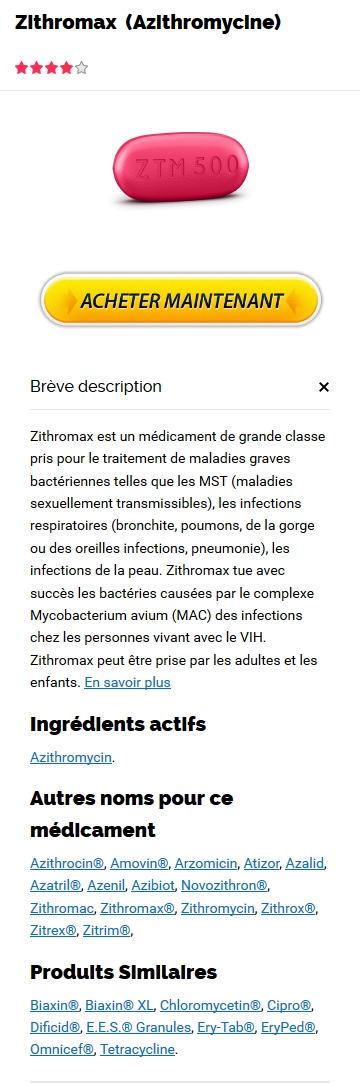 Achat Zithromax 500 mg France