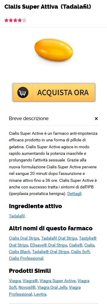 Generico Cialis Super Active 20 mg Ordine in Springfield, FL