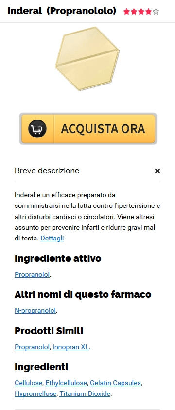 Inderal Propranolol Acquista In linea in Bemidji, MN :: Pharmacy Trusted :: Grandi sconti, senza ricetta