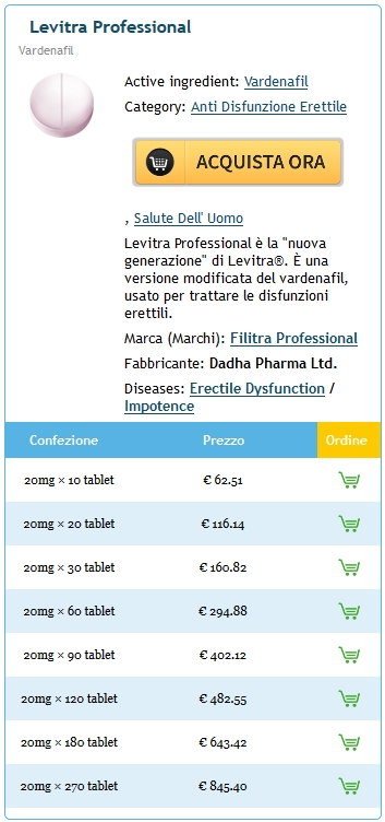 Ordine Generico Professional Levitra 20 mg In linea in Central, SC