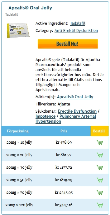 Köpa Apcalis jelly 20 mg Billig