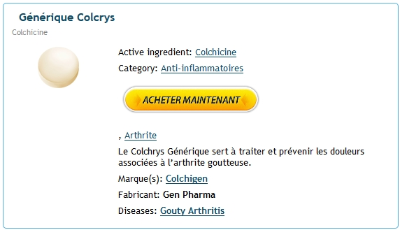 Comment obtenir la prescription de Colcrys in Hoxie, AR