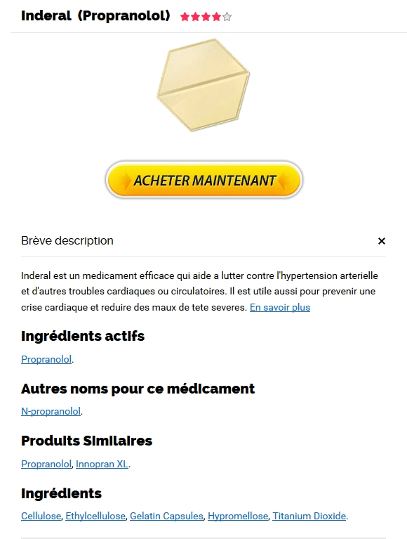 Pharmacie en ligne Inderal 10 mg pas cher / Discount Online Pharmacy
