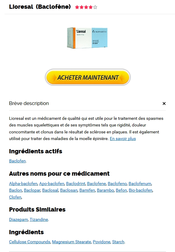 Achat de Lioresal 10 mg