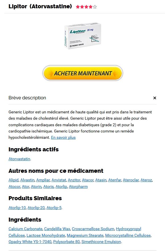 Achat Lipitor par internet * Discount Online Pharmacy * Livraison dans le monde entier (3-7 Jours)