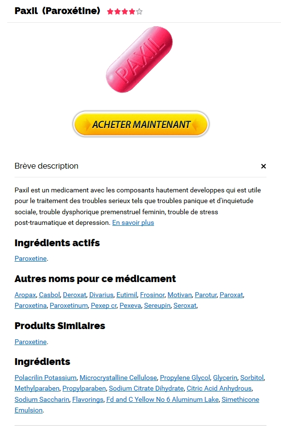Acheter Paroxetine En Pharmacie En Ligne