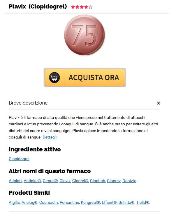 Online pillola negozio * Acquistare Plavix 75 mg generico a buon mercato